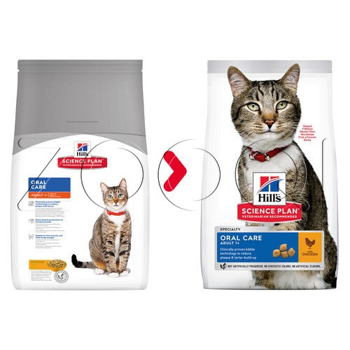 Hills Science Plan Feline Adult Oral Care Chicken (с курицей)
