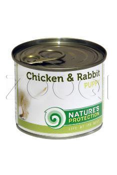 Nature's Protection Puppy Chicken & Rabbit (с курицей, кролик) - 800 г