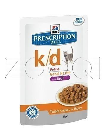 Hills Prescription Diet k/d Feline with Beef (Говядина), 85 г