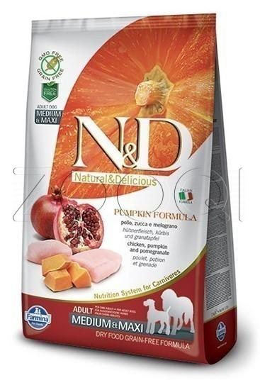 Farmina N&D Dog GF Pumpkin Chicken & Pomegranate Adult Medium & Maxi