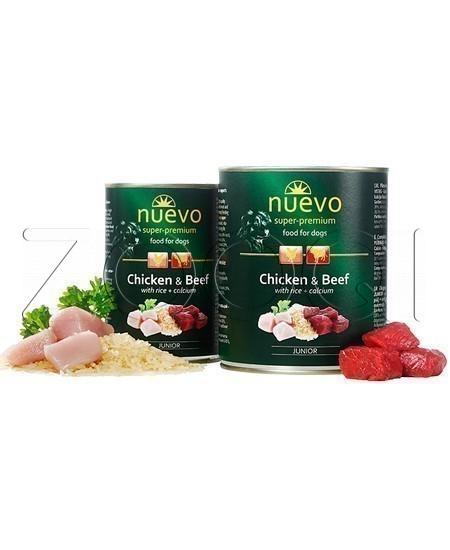 Nuevo Chicken & Beef with rice + calcium - 400 г