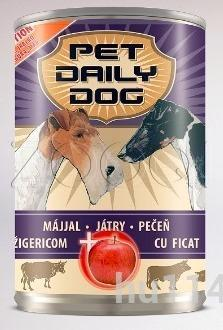 Pet Daily Dog Liver+ apple консервированный корм для собак с печенью и яблоком