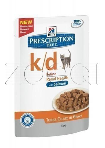 Hills Prescription Diet k/d Feline with Salmon (Лосось), 85 г