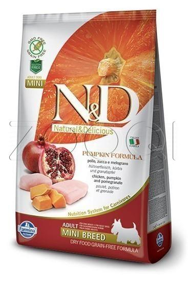 Farmina N&D Dog GF Pumpkin Chicken & Pomegranate Adult Mini