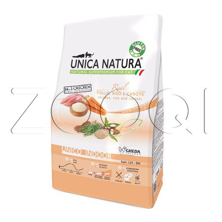 Unica Natura Unico Indoor - курица, рис, морковь
