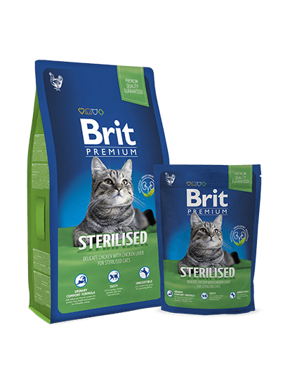 Brit Premium Cat Sterilised - 0,3 кг