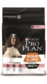 Pro Plan Senior 7+ Sensitive (Лосось, рис), 14 кг
