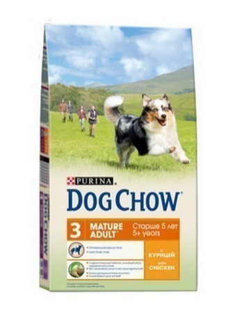 DOG CHOW Mature с курицей, 14 кг