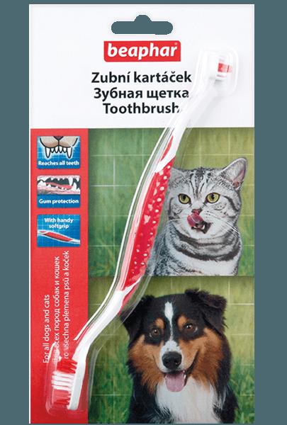 Beaphar Двойная зубная щетка Toothbrush